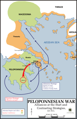 English: The Alliances of the Peloponnesian War