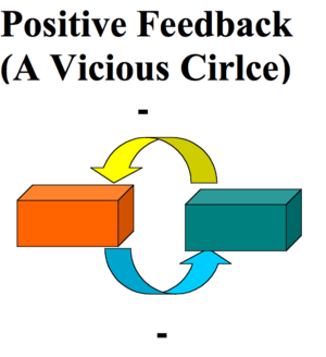 Positive feedback loop, vicious circle