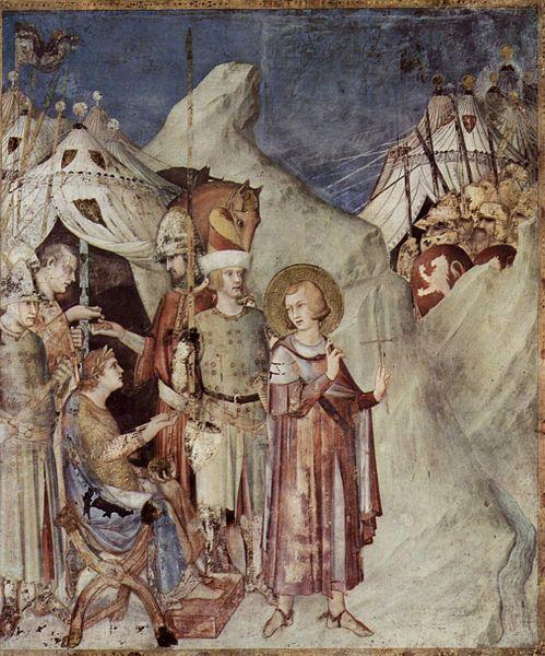 Simone Martini, scena ukazująca życie św. Franciszka