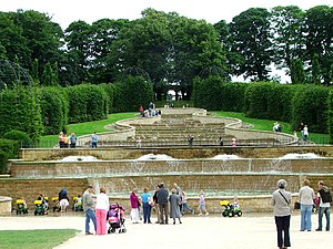The Cascade. Water cascade in Alnwick Garden