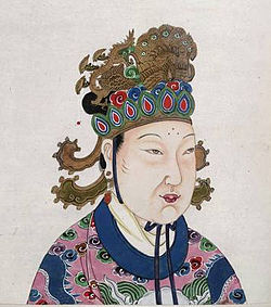 A Tang Dynasty Empress Wu Zetian.JPG