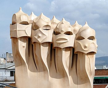 English: Ventilation towers on the roof of Cas...