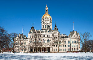 The Connecticut State Capitol, in downtown Har...