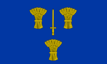 The County Flag of Cheshire, comprising a bann...