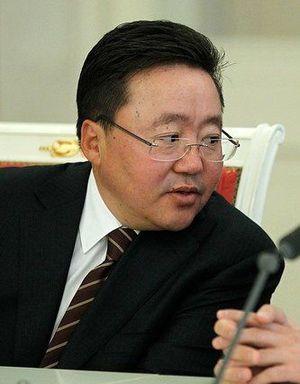 English: Mongolia president Tsakhiagiin Elbegdorj