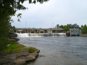 The eponymous Fenelon Falls, with the power ge...