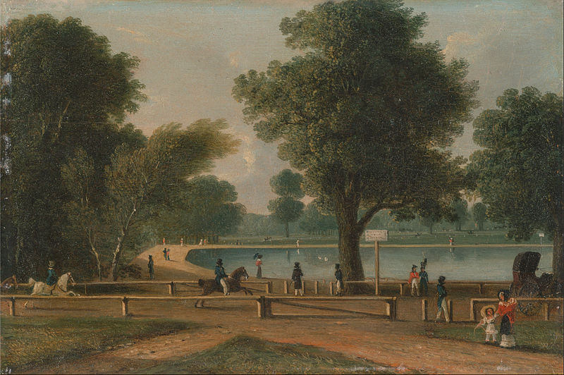 File:George Sidney Shepherd - The Serpentine, Hyde Park - Google Art Project.jpg