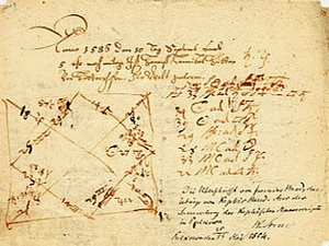 Horoscope drawn up by Johannes Kepler for Aust...
