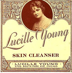 Lucille Young on the sepia-toned label which w...