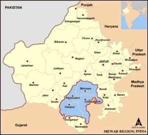 Mewar region in India