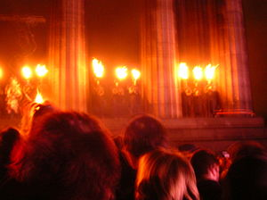 The lighting of the torches