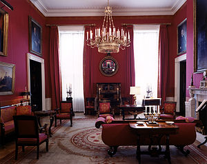 White house Red Room, as designed by Stéphane ...