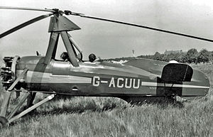 English: Avro-built Cierva C.30A Autogiro taxy...