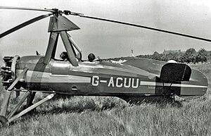 English: Avro-built Cierva C.30A Autogiro taxy...