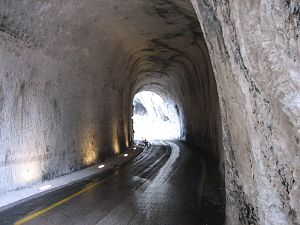 Inside the Furlo tunnel in the course of the V...