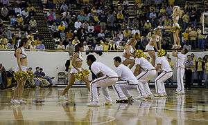 Georgia Tech Yellow Jacket cheerleaders at a 2...