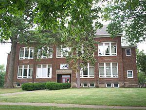 Picture of DePeyster School in Kent, Ohio, now...