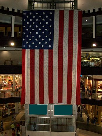 English: Mall of America Rotunda Flag