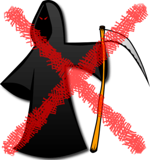 Grim reaper crossed out with red X