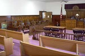 Courtroom in in . The Classical Revival courth...