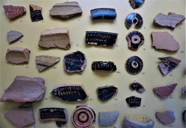 Ostraka for Ostracism - Museum of the Ancient Agora - Joy of Museum