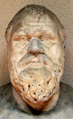 Portrait of Socrates. 2nd century Roman copy f...