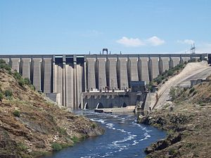 English: Alcántara Dam (Extremadura, Spain) Es...