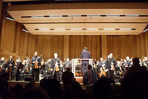 English: San Diego Symphony after a performanc...