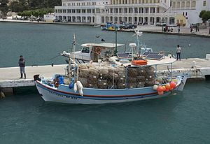 English: A fishing (seafood, lobsters, crustac...