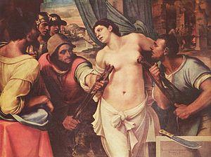 Martyrdom of St Agatha by Sebastiano del Piomb...