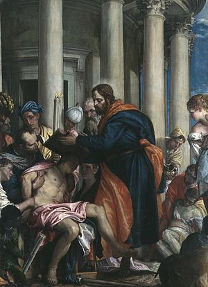 Barnabas curing the poor by Paolo Veronese, Mu...