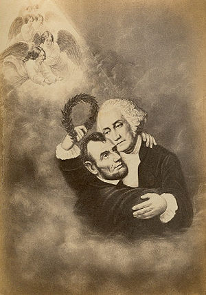The Apotheosis, Abraham Lincoln and George Was...