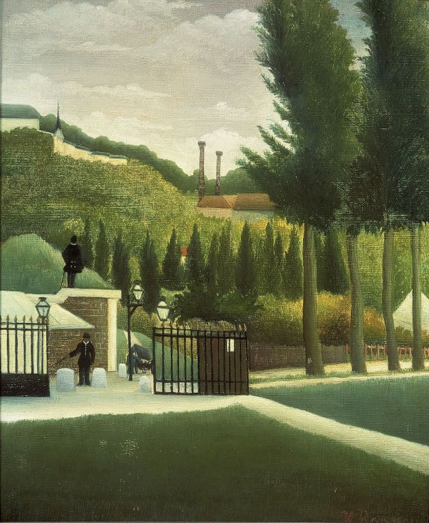 The Customs Post by Henri Rousseau c1890