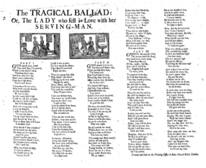 The tragical ballad: or, the lady who fell in ...