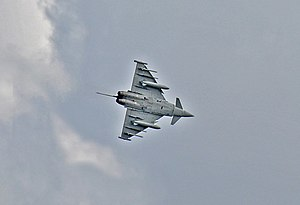 English: Typhoon - inbound RAF Coningsby