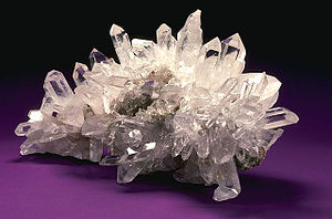 Quartz crystals are often used in crystal healing.