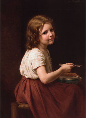 William-Adolphe Bouguereau Soup (1865)