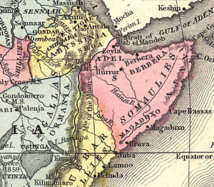 Map of Africa, Samuel Mitchell - 1867, Philade...