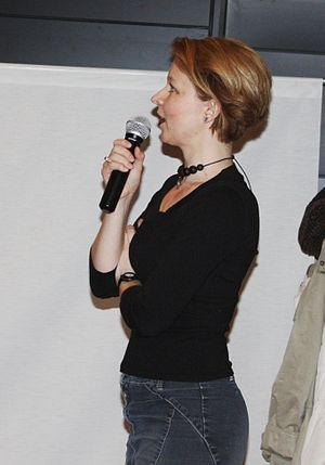 Finnish writer Anna Kortelainen was talking ab...