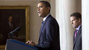 President Barack Obama and Treasury Secretary ...