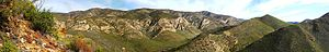 English: A stitched panoramic image of the Bav...
