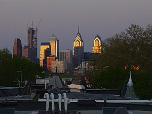 English: Center City viewed from West Philadelphia