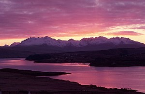 English: Cuillin Sunset From Ullinish The end ...