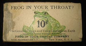 """Early 20th century """"Frog In Your Throat&q..."""