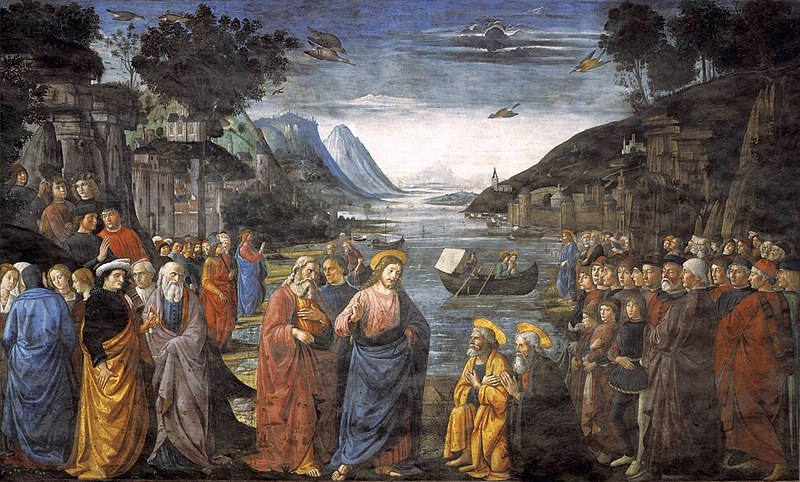 File:Ghirlandaio, Domenico - Calling of the Apostles - 1481.jpg