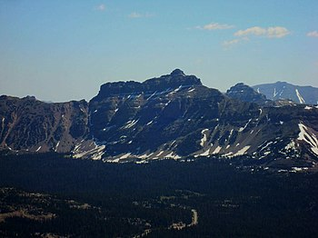 English: Hayden Peak in the Uinta Mountains of...