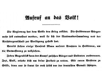 Deutsch: Aufruf zum Widerstand gegen die veror...