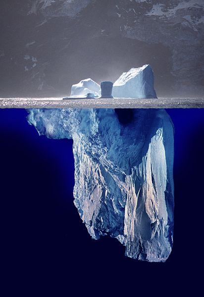 Fotomontage de un Iceberg