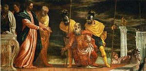 English: Jesus healing the servant of a Centur...