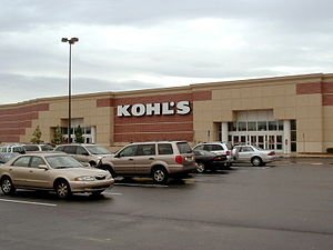 English: The exterior of a typical Kohl's depa...